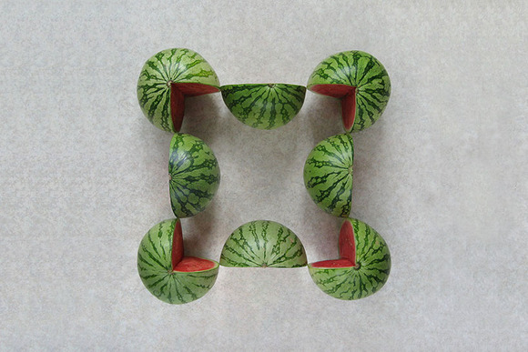 Geometric Food Art